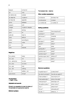 French vocabulary  32 pages