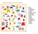 French vocabulary / Cherche et trouve / Choisis le bon mot