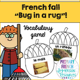 French vocabulary game - Bug in a rug - Fall - Jeu de vocabulaire - l'automne