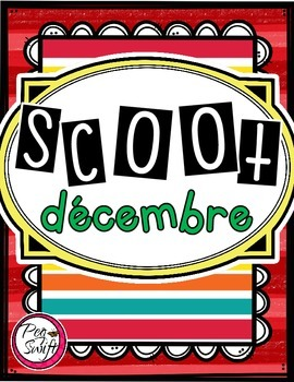 French Vocabulary Game - SCOOT décembre