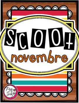 French Vocabulary Game - SCOOT novembre