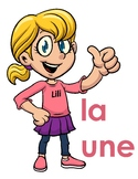 French vocabulary worksheets teach concept of  feminine an
