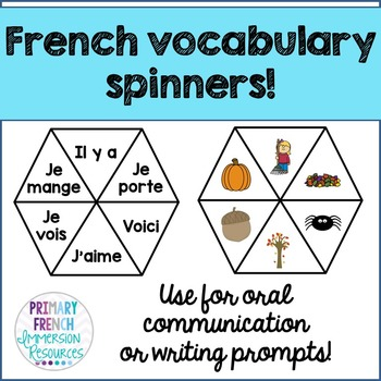 French vocabulary spinners