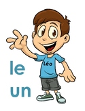 French vocabulary worksheets teach concept of feminine and