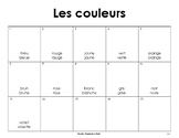 French vocabulary- Colors and Adjectives