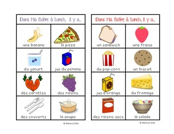 French vocab game - Dans Ma Boîte à Lunch