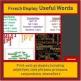 French wall display adjectives and other useful words