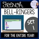 French warm-ups and bell ringer activities ACTIVITÉS DE TR