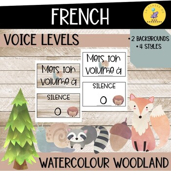 French watercolour woodland theme voice levels