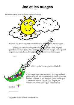 French weather - A story: Léo et les nuages using weather related expression