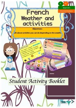 French weather and activities booklet for beginners