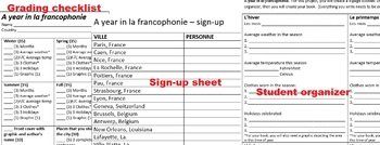 French weather, clothing and culture book - A year in la francophonie