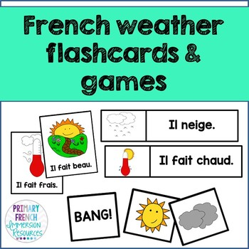 French weather flashcards and games - Quel temps fait-il?