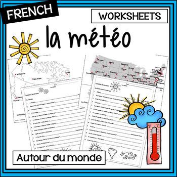 French - weather – la météo - activities