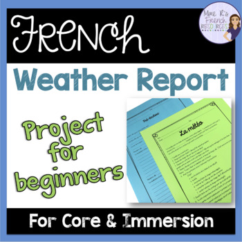 French weather project and presentation