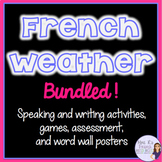 French weather vocabulary activities for beginners BUNDLED
