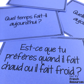 French weather vocabulary speaking activity - le temps