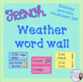 French weather word wall/ Mur de mots le temps