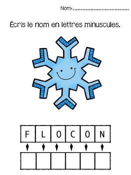 French winter- Cahier d'hiver: exercices en français et numératie.