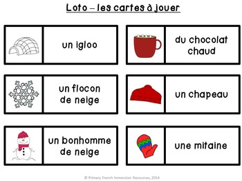 French winter / l'hiver - bingo