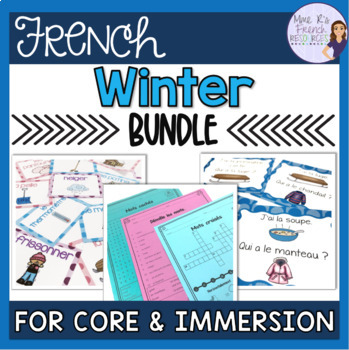French winter bundle of speaking and writing activities - l'hiver