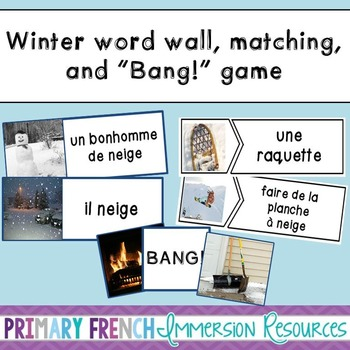 French winter / l'hiver - word wall cards & vocabulary gam