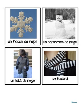 French winter game cards