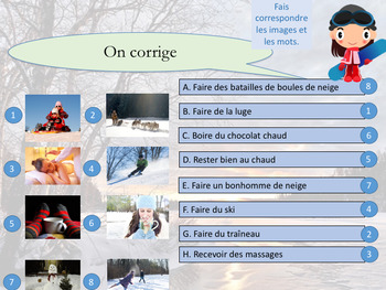 French winter interactive activities and games