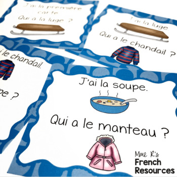 French winter vocabulary game J'AI... QUI A ...? L'HIVER