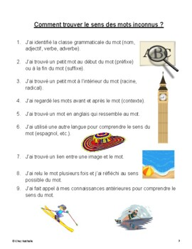 French Word Skills Activity