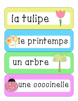 French word wall bundle - Mots de mur!