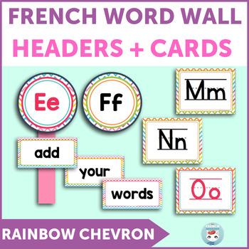 French word wall | mur des mots RAINBOW CHEVRON