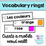 French word wall strips - Basic Vocabulary