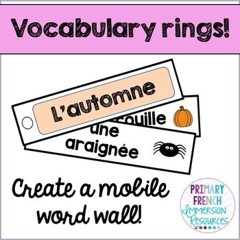 French word wall strips - Seasons & Celebrations