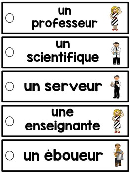 French word wall strips - Version 3