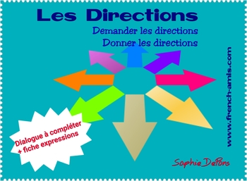 French speaking & writing - Dialogue to complete - Dans la rue (Les directions)