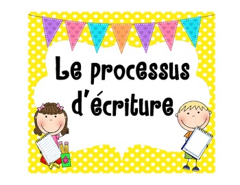 French writing process posters for Writer's Workshop (atelier d'écriture)