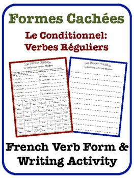 French Conditional Writing Activity (Regular Verbs)