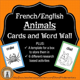French/English Animal Flashcards and Word Wall