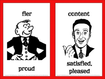 French/English Emotions Flashcards and Word Wall