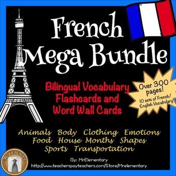 French Flashcards Bundle