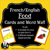 French Food Flashcards and Word Wall