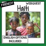 French/English – un peu d'Haiti – Haiti Webquest/Internet Activity