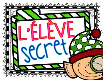 French Secret Student Poster {Elf} FREE