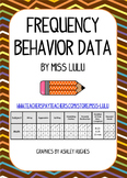 Frequency Data Sheets for Behavior