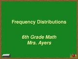 Frequency Distributions - Middle Grades Math