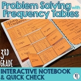 Frequency Table Problem Solving Interactive Notebook & Quick Check TEKS 3.8B