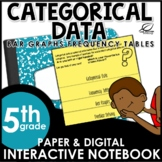 Frequency Tables and Bar Graphs Interactive Notebook Set
