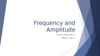 Frequency and Amplitude (Pitch)