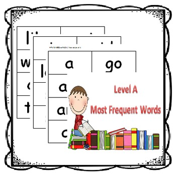 Level A Guided Reading Flash Cards